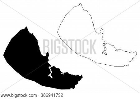 Dar Es Salaam City (united Republic Of Tanzania) Map Vector Illustration, Scribble Sketch City Of Mz