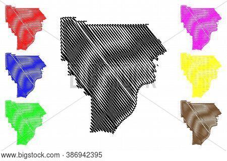 Floyd County, Indiana (u.s. County, United States Of America, Usa, U.s., Us) Map Vector Illustration