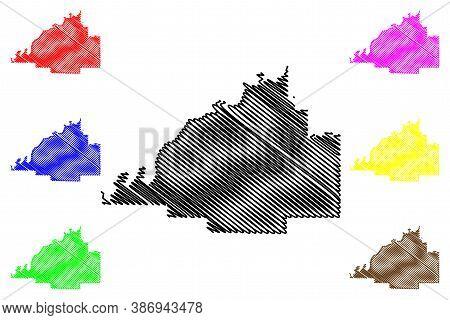 Gibson County, Indiana (u.s. County, United States Of America, Usa, U.s., Us) Map Vector Illustratio
