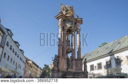 The Plague Column In Slovak Banska Stiavnica