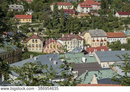 Banska Stiavnica Is Old Medieval Mining Centre. Unesco Heritage Town