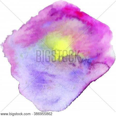 Watercolor Vector Brush With Gradient. Watercolor Splash Texture.