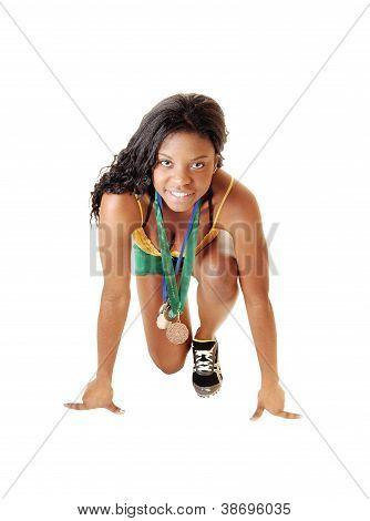 Black Girl On Start.