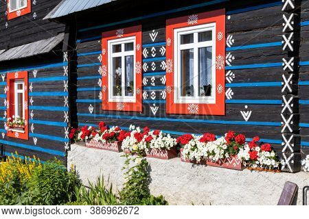folk architecture in Zdar under Belianske Tatras, Slovakia