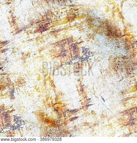 Vintage Distress Dirty Texture. Rusty Rough Dust Design. Old Stone Wall. Grunge Crack Illustration.