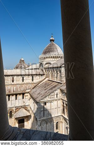 Pisa Cathedral (duomo Di Santa Maria Assunta), View From The Leaning Tower. Square Of Miracles, (pia