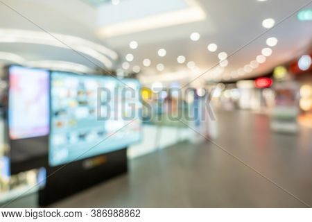 Abstract Blurred Of Department Store Or Shopping Center Mall, Luxury Retail Department Store Interio