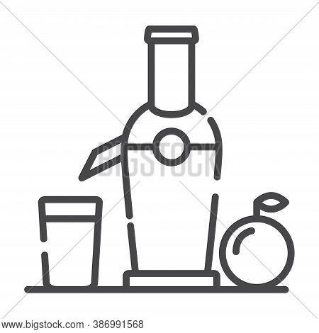 Juicer Orange Juice Line Art Vector Icon Outline.kitchen Appliances.