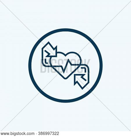 Heart Rate Icon Isolated On White Background From Medical Collection. Heart Rate Icon Trendy And Mod