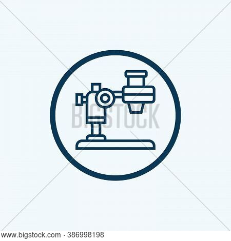 Microscope Icon Isolated On White Background From Education Collection. Microscope Icon Trendy And M