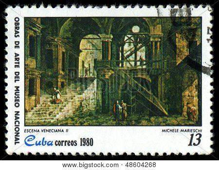 Cuba - Circa 1980: A Stamp Printed In Cuba Shows The