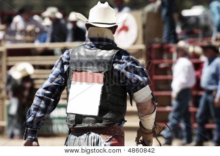 Tough Rodeo Cowboy Back