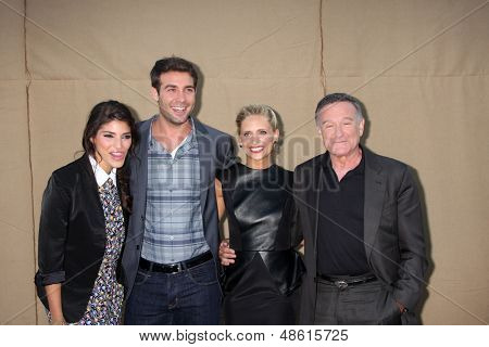 LOS ANGELES - JUL 29:  Amanda Setton, James Wolk, Sarah Michelle Gellar, Robin Williams arrives at the 2013 CBS TCA Summer Party at the private location on July 29, 2013 in Beverly Hills, CA