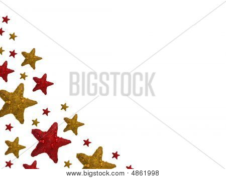 Red And Yellow Christmas Stars Backgroung