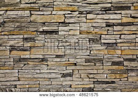 Grunge nicht glatt rot und gelb Steinwand innen alte vernachlässigte und einsame Interieur, Mauerwerk und ca