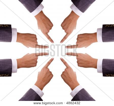 Humand Hands Pointing To Center - Insert Your Product