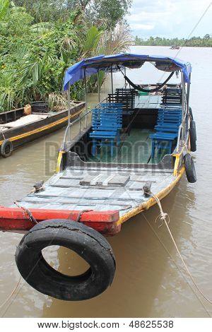 Sampan in the Mekong Delta