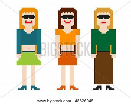 8bit women set