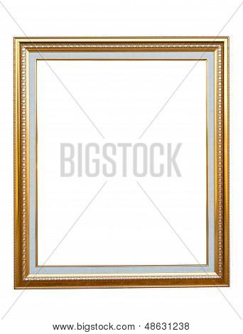 Wooden Photo Frame Isolated On A White Background.