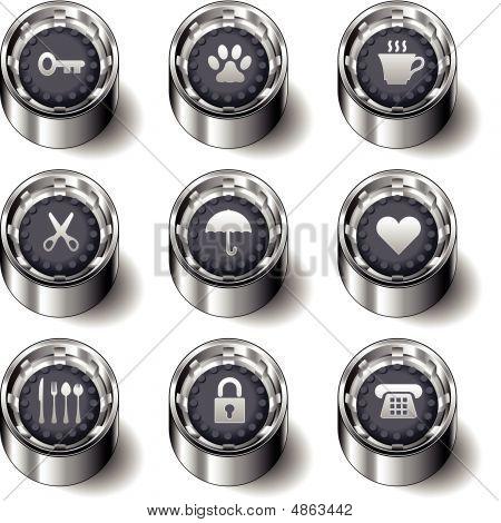Household Item Button Set