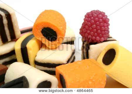 Set Of Fruit Sweets
