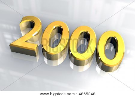 Year 2000 In Gold 3D