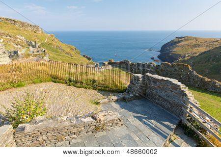 Tintagel Castle Cornwall medieval fortification