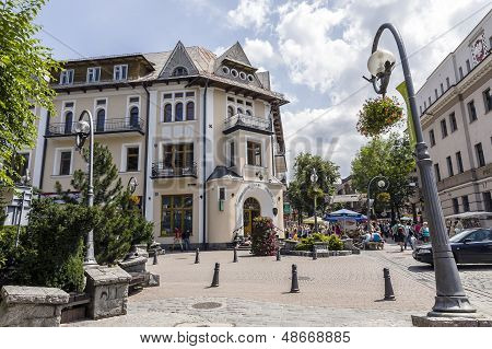 Historic Brick Building In Zakopane