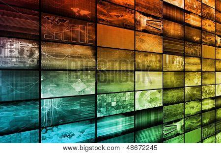 Fondo de tecnología como un arte abstracto Digital