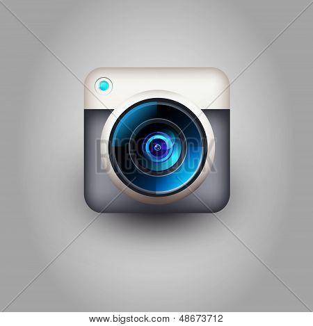 User interface camera lens icon