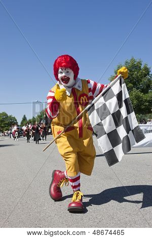 Ronald With The Checkered Flag.