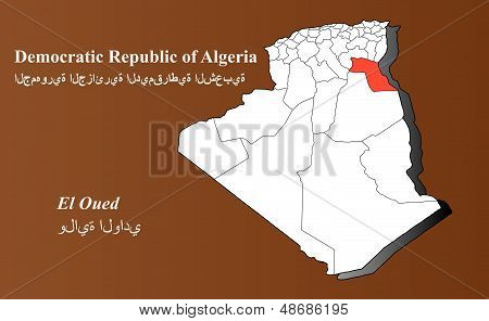 Algeria - El Oued Highlighted
