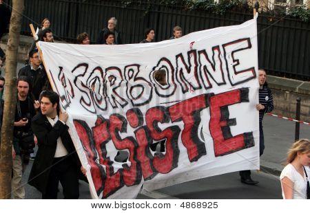 Universities Strike In Paris