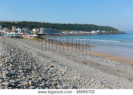 Westward Ho beach Devon England