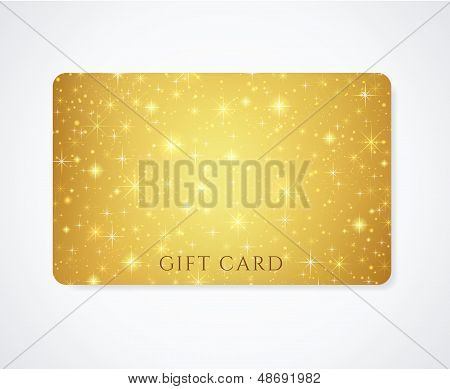 Gold Gift / Discount / Business card template