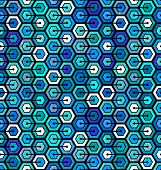 Seamless geometric pattern with hexagons. Abstract background. EPS 10 vector illustration. poster