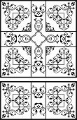 Wrought Iron Grill Design poster