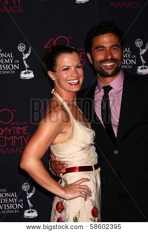 Melissa Claire Egan and Ignacio Serricchio at the 2013 Daytime Creative Emmys, Bonaventure Hotel, Los Angeles, CA 06-14-13