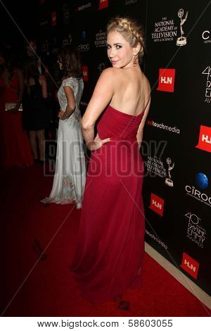 Ashley Jones at the 40th Annual Daytime Emmy Awards, Beverly Hilton Hotel, Beverly Hills, CA 06-16-13