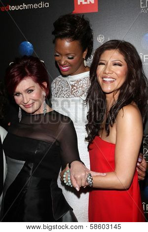 Sharon Osbourne, Aisha Tyler and Julie Chen at the 40th Annual Daytime Emmy Awards, Beverly Hilton Hotel, Beverly Hills, CA 06-16-13