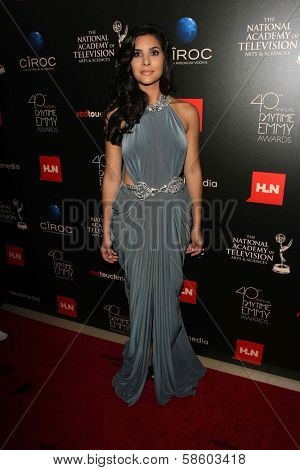 Camila Banus at the 40th Annual Daytime Emmy Awards, Beverly Hilton Hotel, Beverly Hills, CA 06-16-13