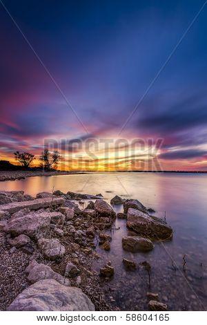 Benbrook Lake Sunset