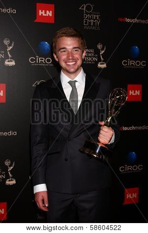 Chandler Massey in the 40th Annual Daytime Emmy Awards Press Room, Beverly Hilton, Beverly Hills, CA 06-16-13