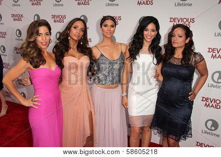 Ana Ortiz, Dania Ramirez, Roselyn Sanchez, Edy Ganem and Judy Reyes at the