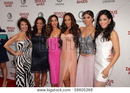 Susan Lucci, Judy Reyes, Ana Ortiz, Dania Ramirez, Roselyn Sanchez and Edy Ganem at the