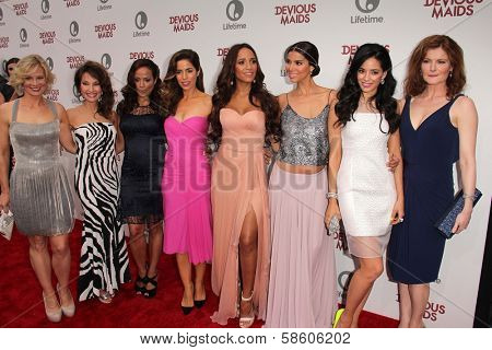 Melinda Page Hamilton, Susan Lucci, Judy Reyes, Ana Ortiz, Dania Ramirez, Roselyn Sanchez and Edy Ganem at the