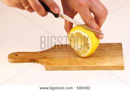 Cutting A Lemon