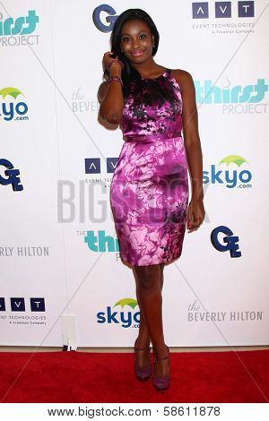 Coco Jones at the 4th Annual Thirst Gala, Beverly Hilton Hotel, Beverly Hills, CA 06-25-13