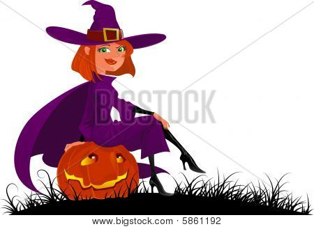 Cute Halloween Witch.eps