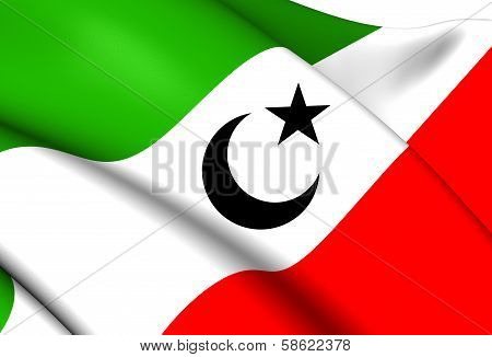 Mahra Sultanate of Qishn and Socotra until 1967 Flag. Close Up. poster